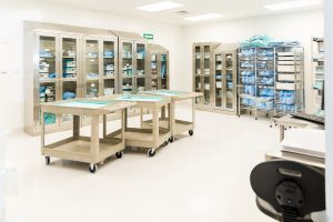 Medical supply carts with drawers