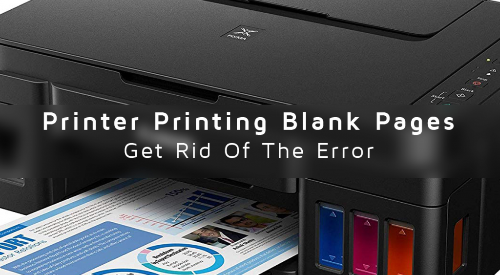 Printer printing blank page