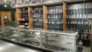 large glass pipes